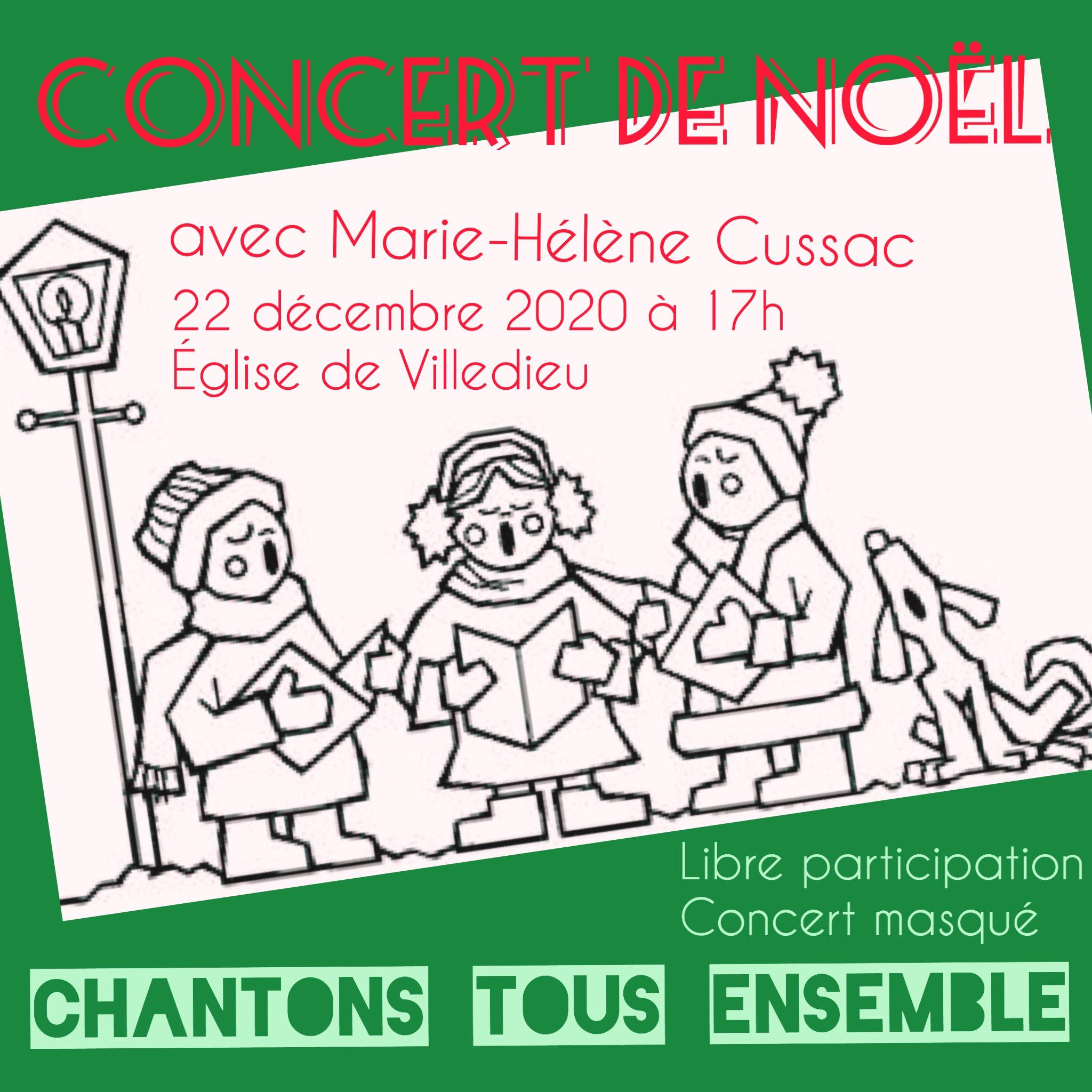 Marie-Hélène Cussac concert de Noël 2020 Christmas carols singalong